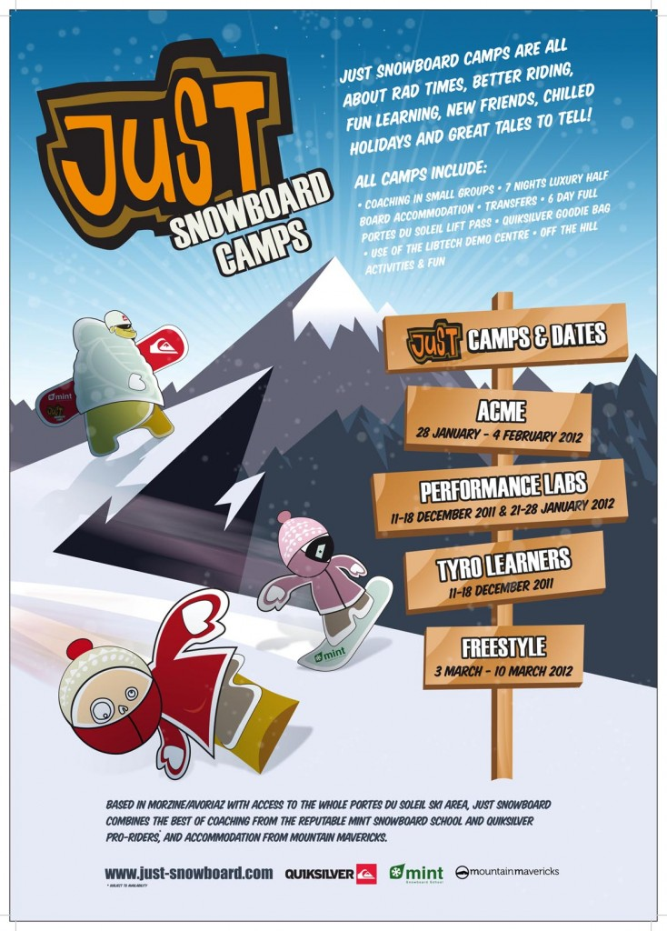 Snowboard camps, france, morzine, avoriaz