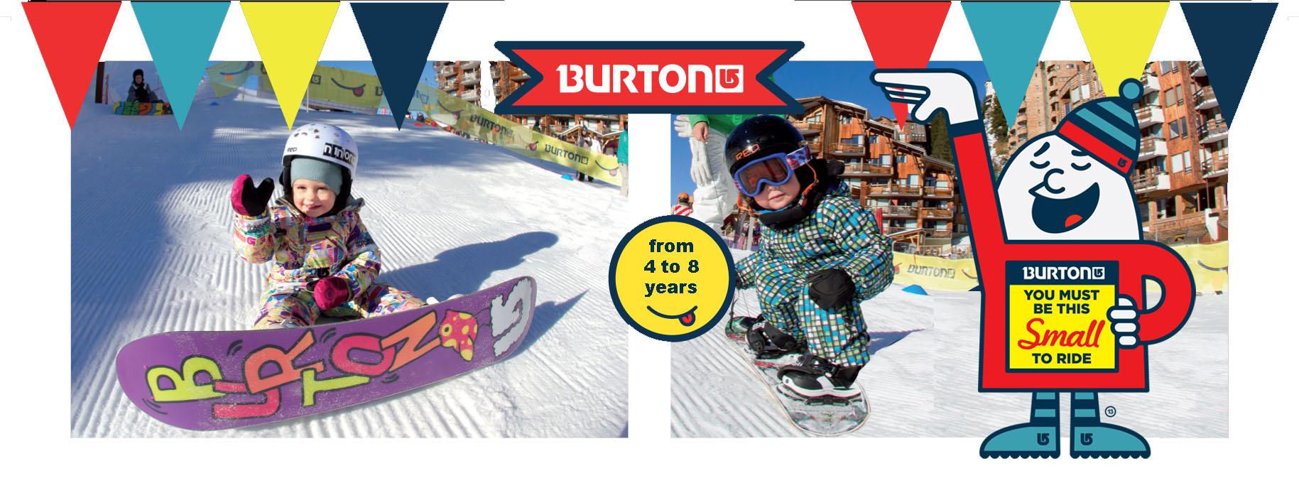 burton kids snowboarding riglet
