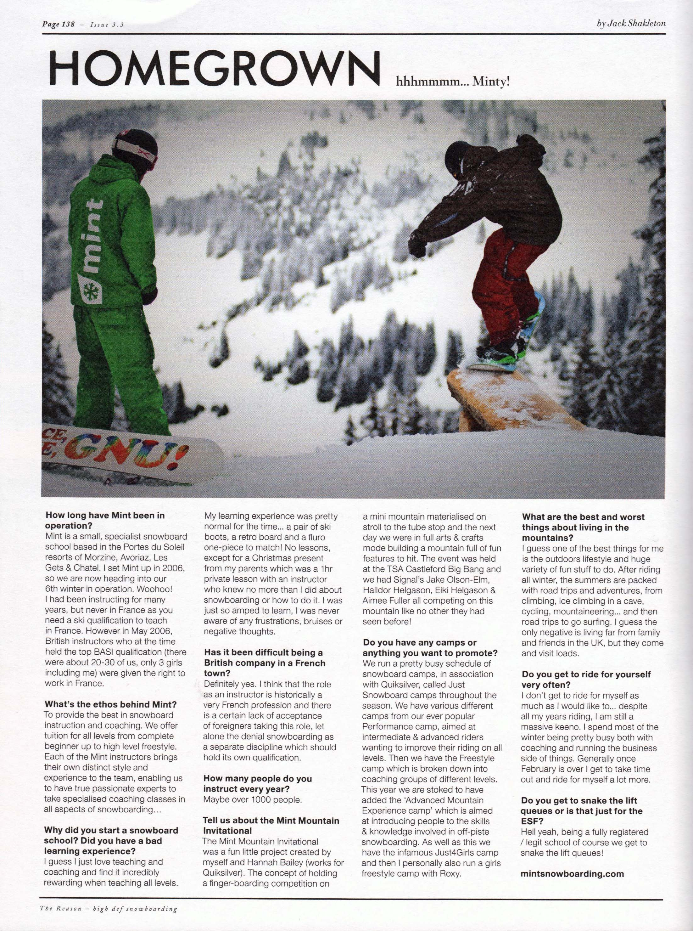 The Reason Snowboard Magazine