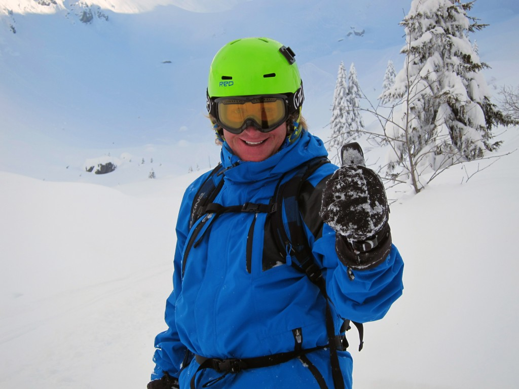Advanced snowboard guiding