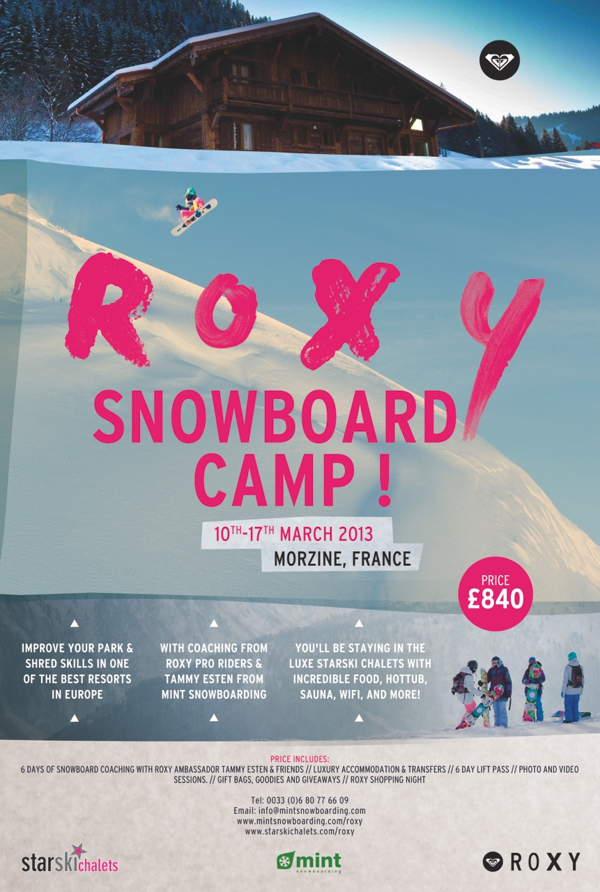 Roxy Snowboard Camp 2013