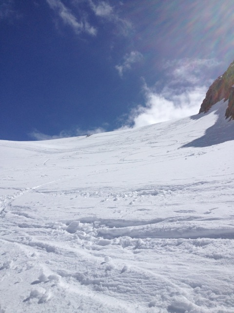 Perfect spring conditions on the Glacier du Tour