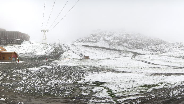 Val Thorens, July 2014 snow