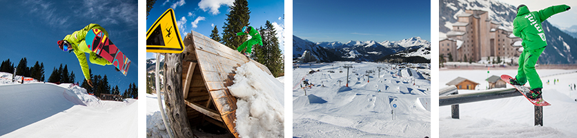 snowparks in Avoriaz and portes du soleil, seasonnaire lessons