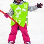 children snowboarding les gets