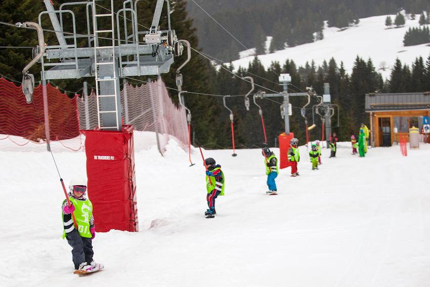 how to teach kids snowboarding