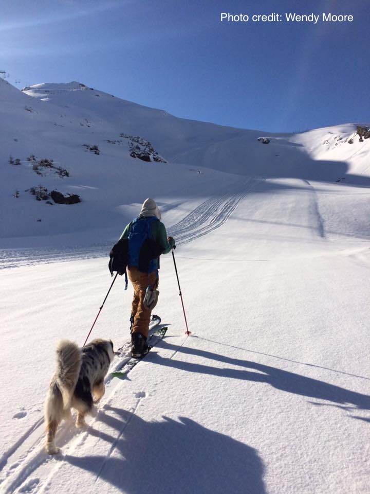 Splitboarding up Arare, 20th May 2016