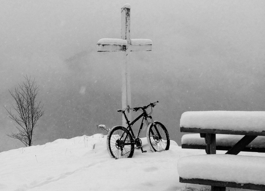 mountain biking snow morzine