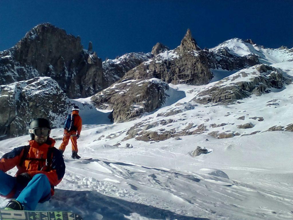 Glacier de Toule off piste, route