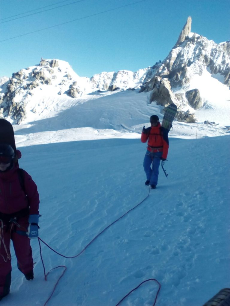 Snowboard adventures chamonix