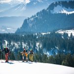Ski touring guiding in the French alps