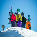 Backcountry snowboarding morzine