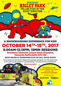 Burton Riglet kids snowboard sessions 2017 UK