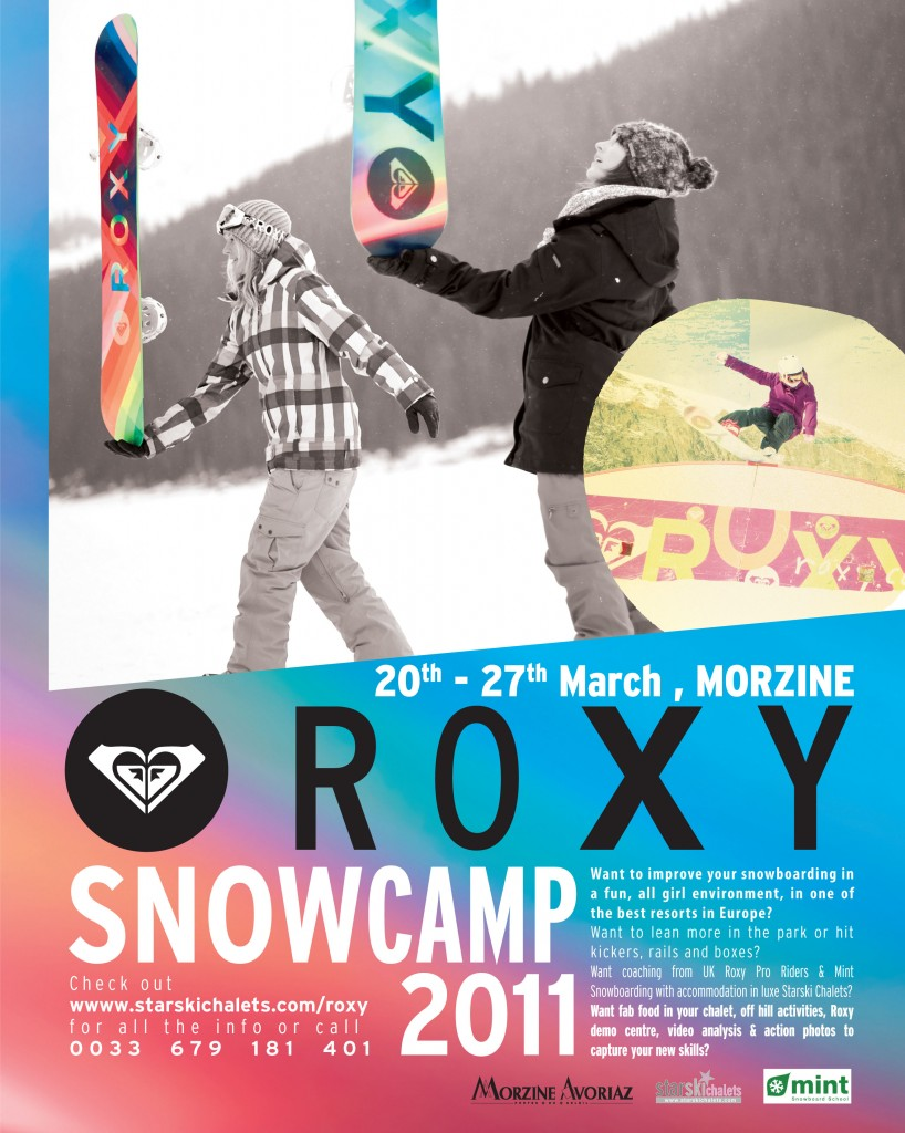 Roxy snowboard camp in Morzine with MINT Snowboarding