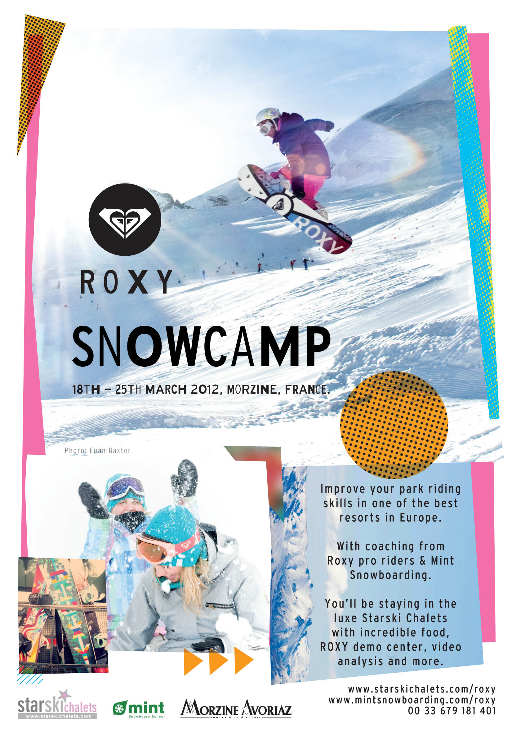 ee6a6a11ff7d Roxy girls Snowboard Camp in Morzine 2012