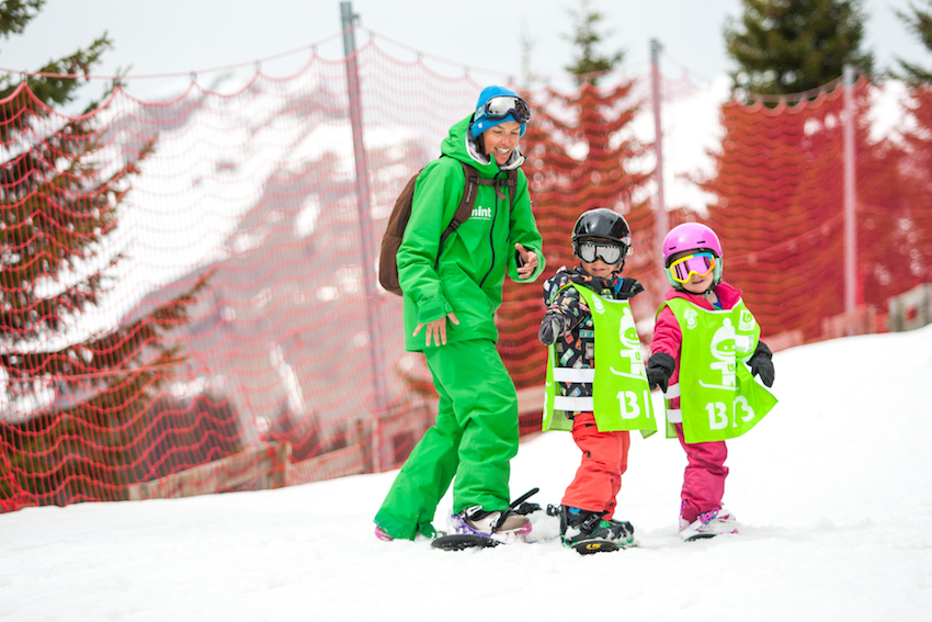 snowboarding with kids