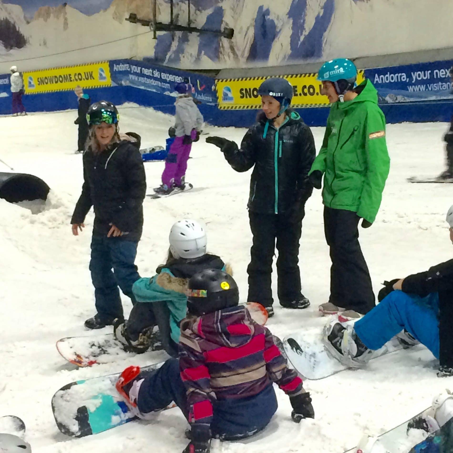 girls snowboard coaching uk