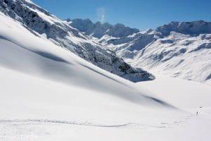 Zinal Off Piste Snowboarding