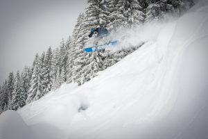 Jumping through the powder