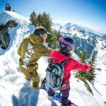 Grand Massif off piste snowboarding