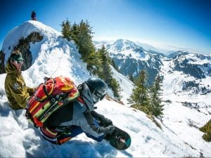 Dropping in to Flaine powder field