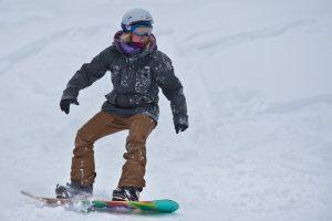 technical snowboard lesson