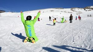 kids snowboard lessons in europe