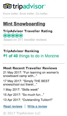 Mint TripAdvisor Reviews