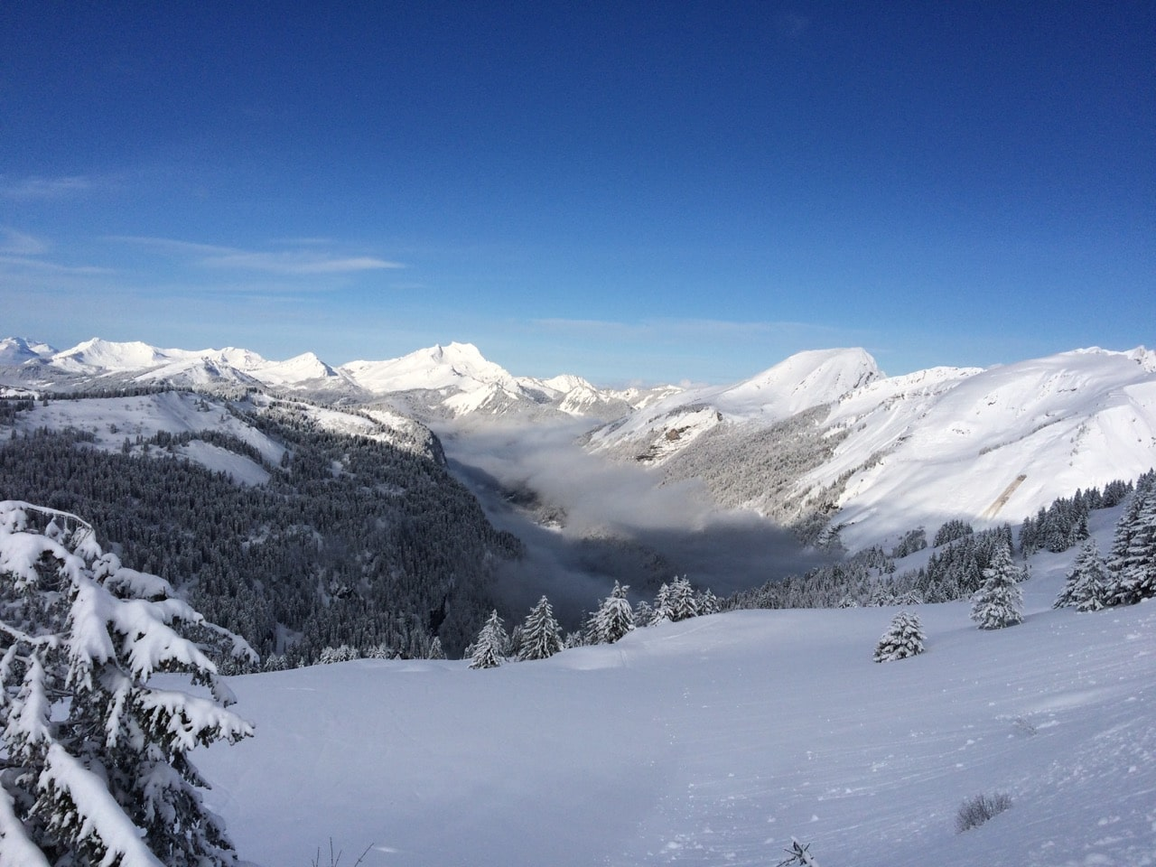Chatel In Winter
