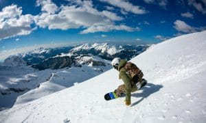 Freeride Snowboarding In France