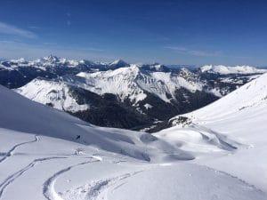 Morzine off piste snowboarding
