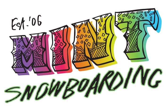 mint snowboarding logo avoriaz