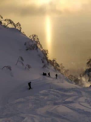 snowboarding Mount Asahidake