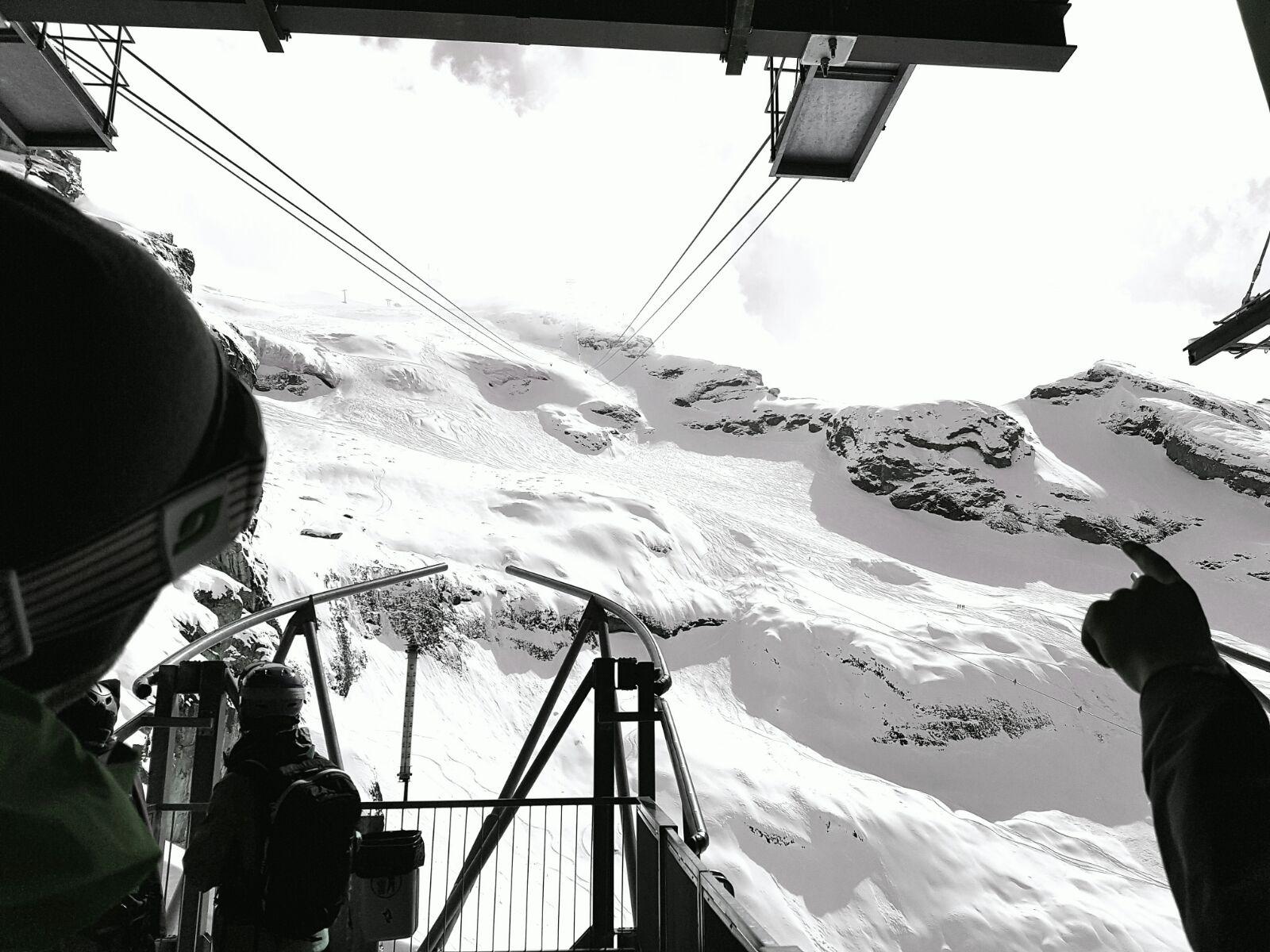 Engelberg Freeride Snowboarding