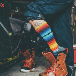 snowboard socks and boot