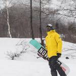 beginner snowboarder