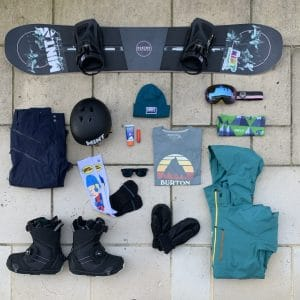 Beginner Snowboarding holiday Packing List