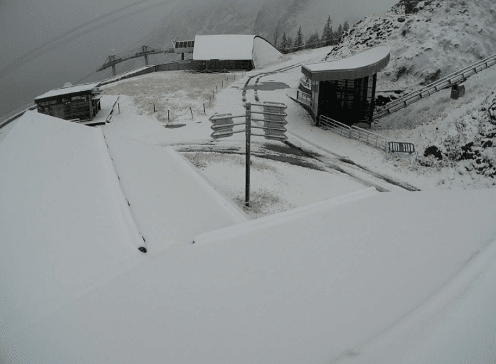 Chamonix september snow
