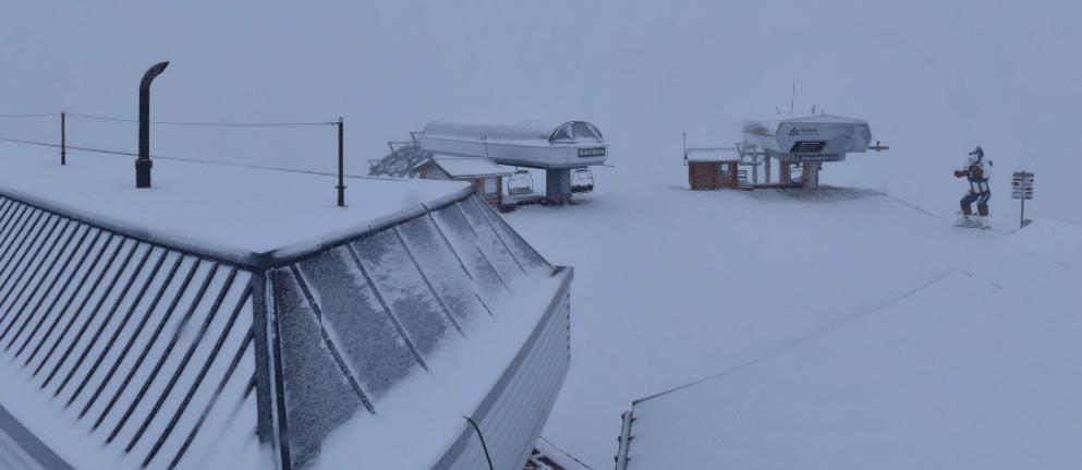 meribel snow in september ski station