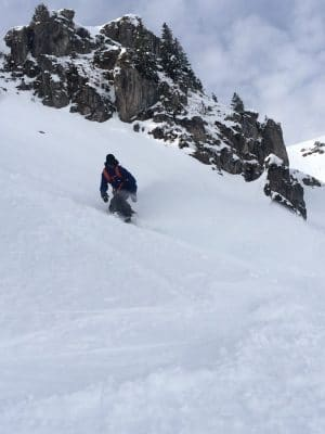 Snowboarding Pointe De Chalune