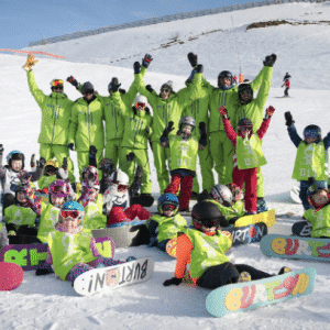 Kids snowboard club morzine